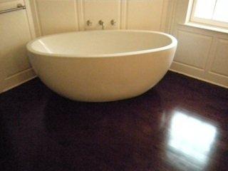 stained hardwood floors