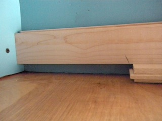 how to cut a recess in a hardwood floor