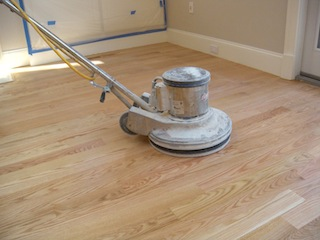 Sanding sappy or gummy wood flooring for Can you sand a floor with a hand sander