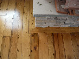 Recycled wood flooring prepping and installing hardwood for Engineered fireplace