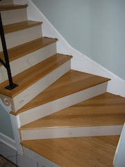 oak winder stairs