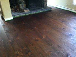 Layering wood stain