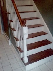 wood dye stain staircase
