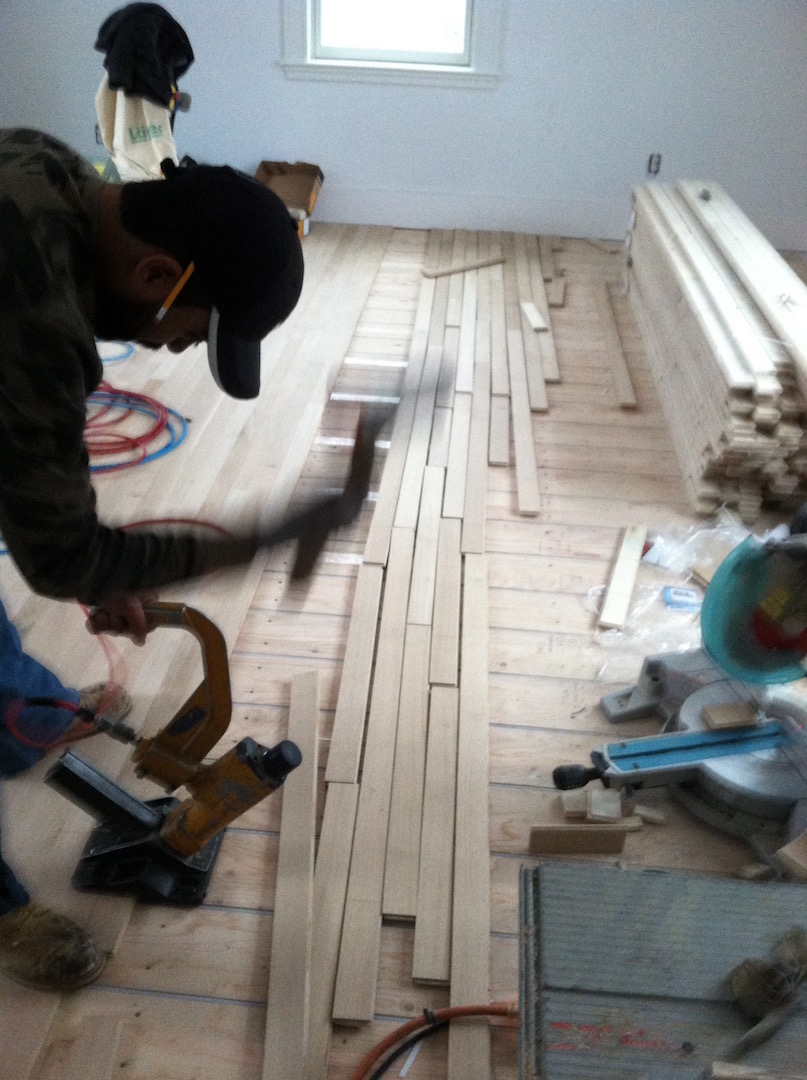 hardwood floors over radiant heat