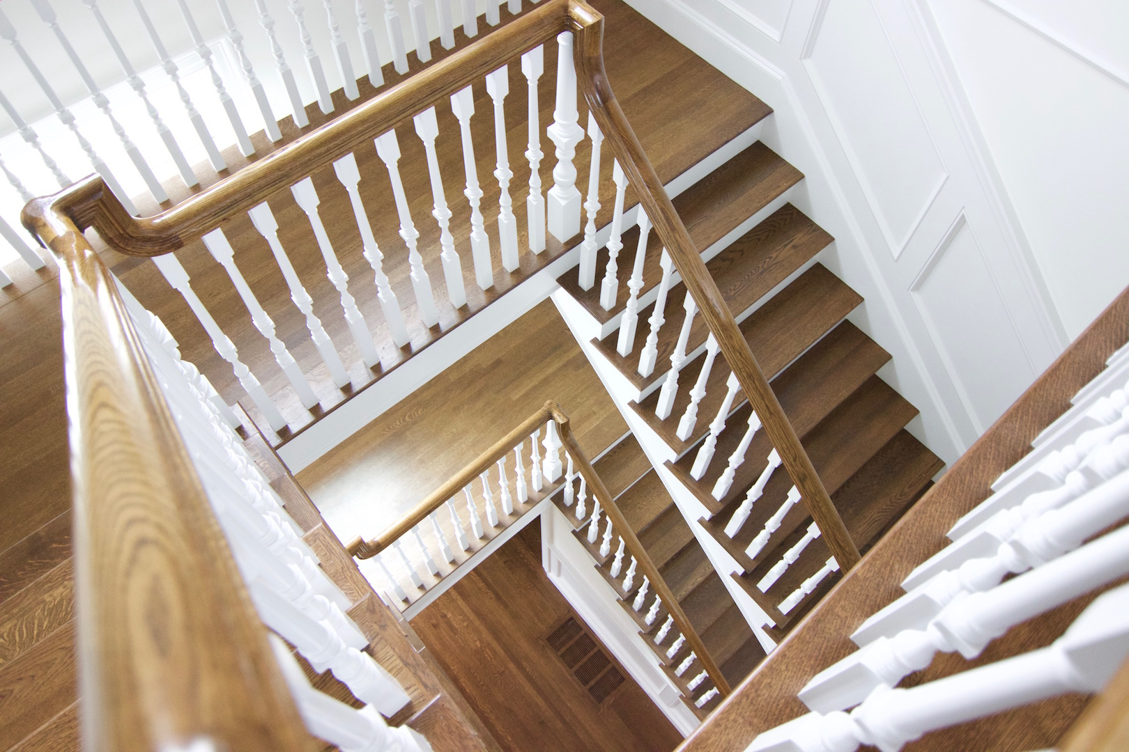 antique brown staircase