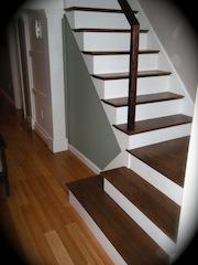 Hardwood Stair Ideas. Jacobean Stain