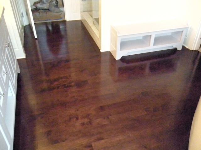 Maple hardwood floors stained with. Dark Walnut aniline dye stain - Aniline Dye Stain, Images And Photos Of Dyed Floors