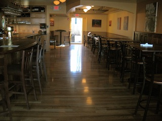 restaurant wood floor
