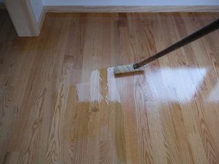 Applying Polyurethane To Hardwood Floors kats whimsy tips for applying polyurethane to hardwood floors Why Is A Floor Roller So Effective Applying Polyurethane