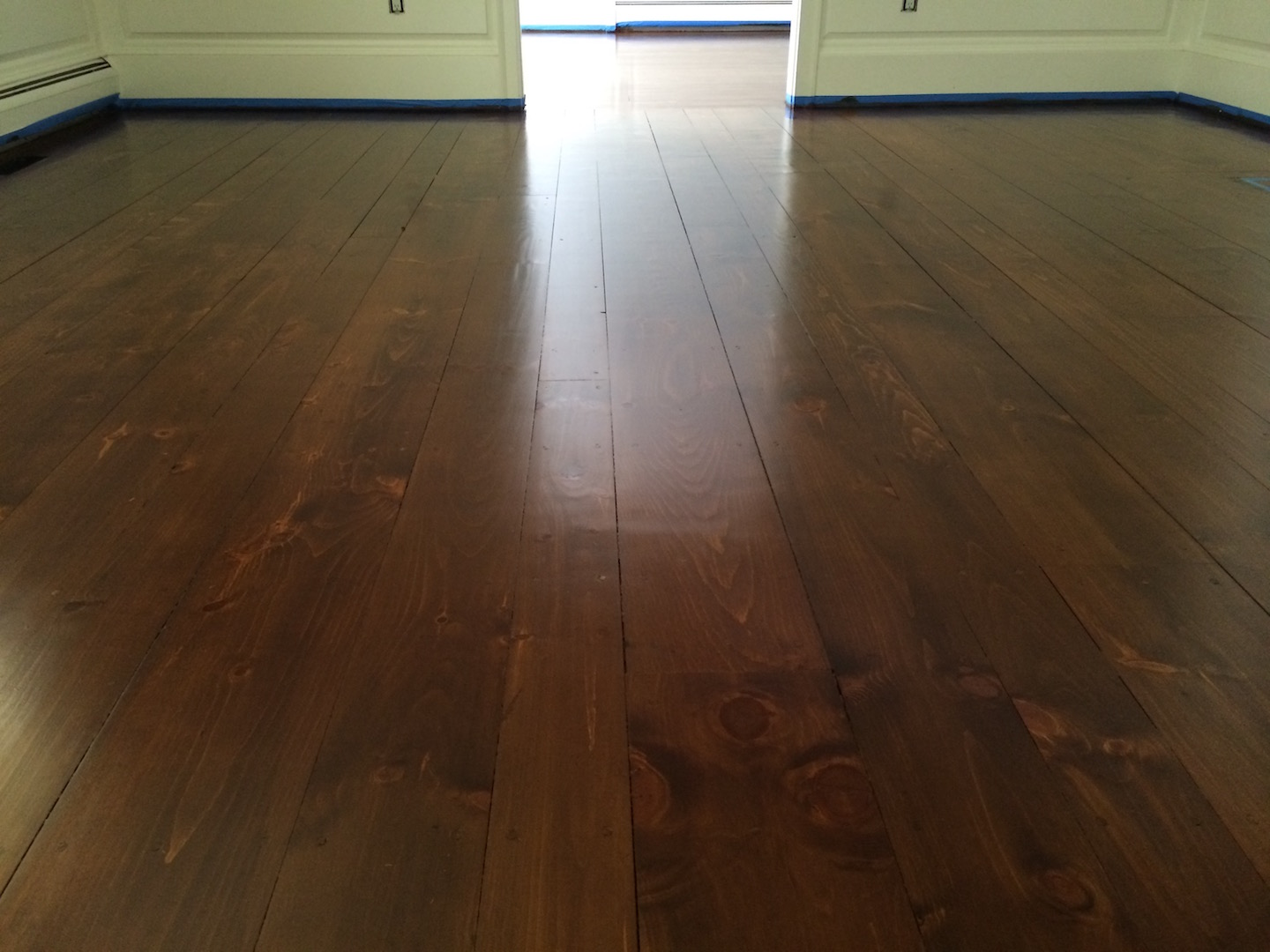 Gandswoodfloors white pine flooring install lynn boston for Floors on floors