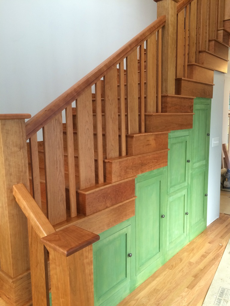 American Cherry Stair Treads, Risers And Rails Top Coated With 2 Coats Of  Pallman Magic Oil. Danvers, Ma.