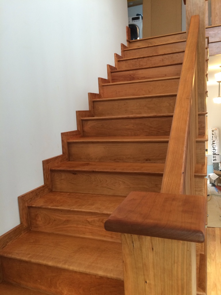 American Cherry Hardwood Staircases Top Coated With 2 Coats Of Pallman  Magic Oil. Danvers, Ma.