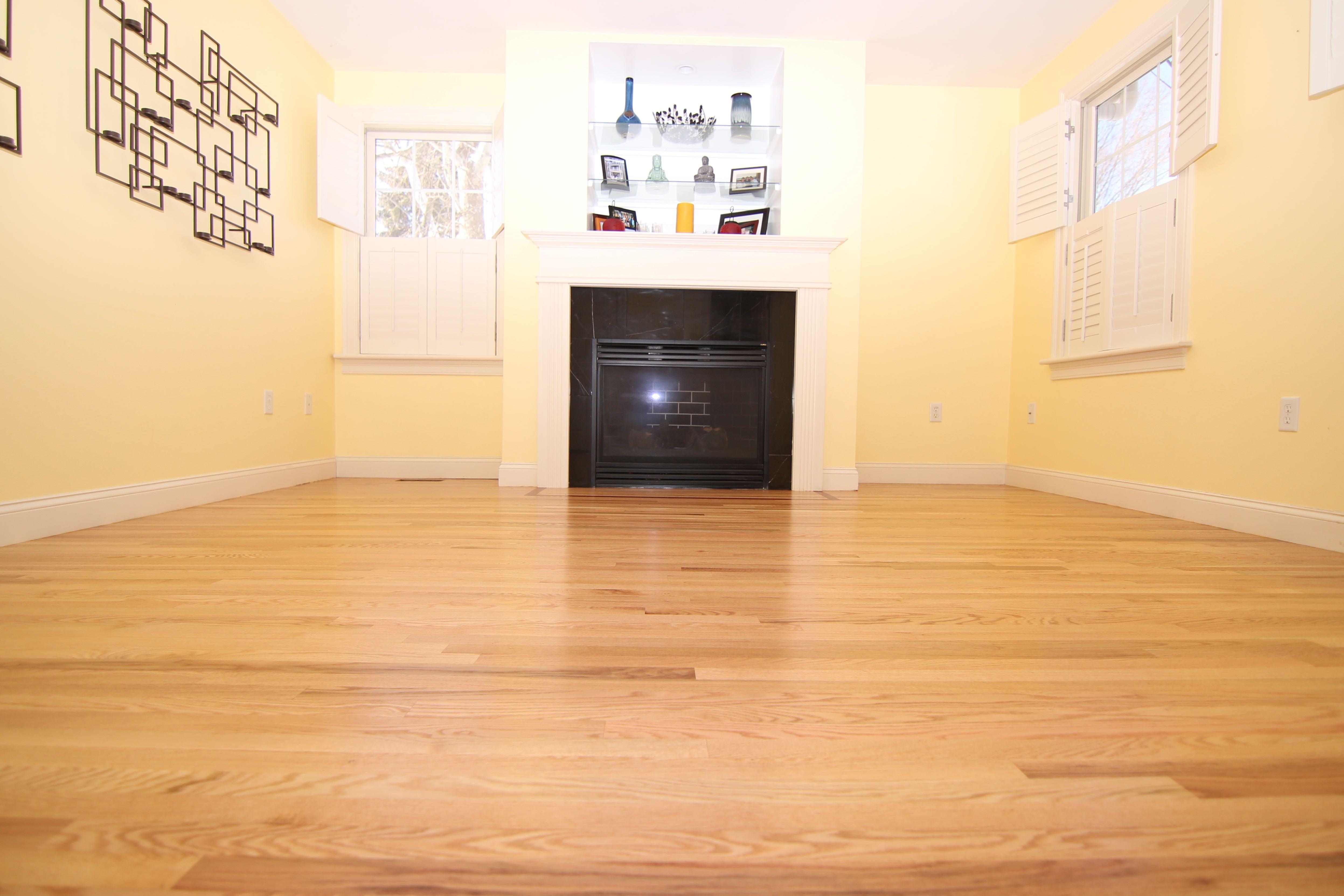 red oak floor