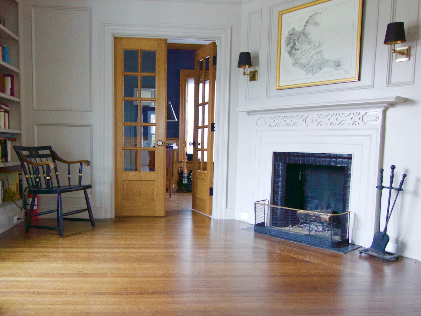 Stained White Oak Floors With Traditional Design