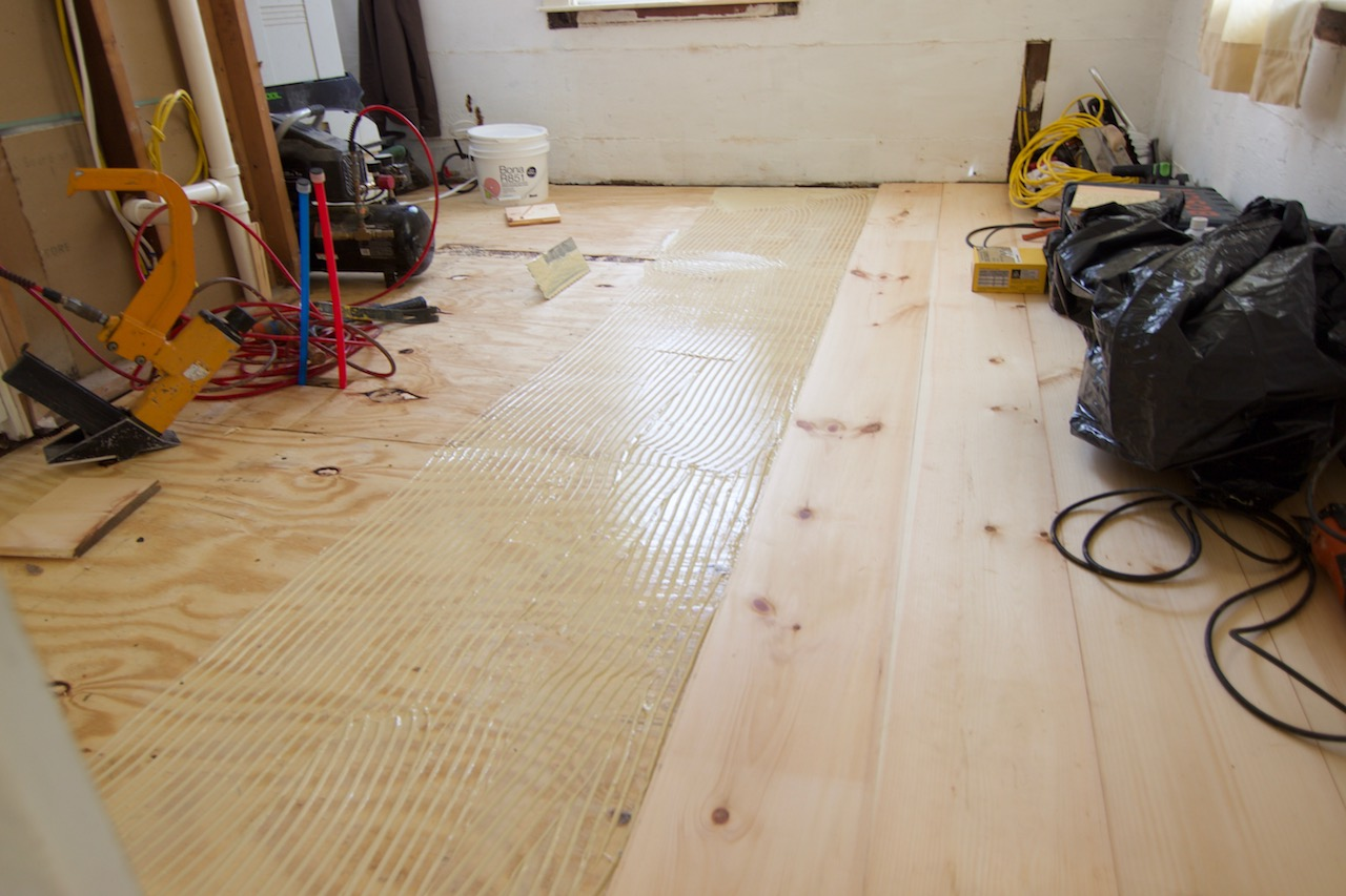 plank flooring installation