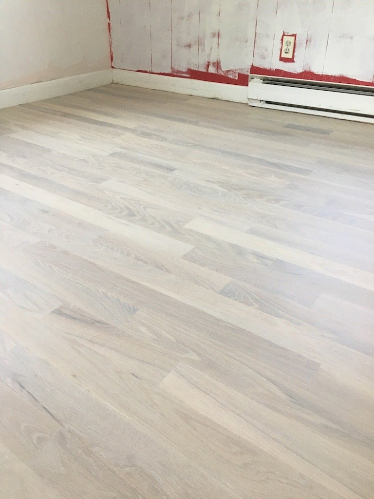 white oiled floor