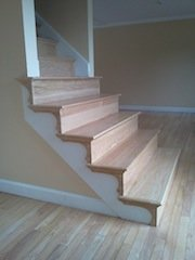 Red Oak Staircase With. Trek Plus Finish. Merrimac, Ma.