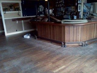 restaurant wood floor